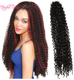 $enCountryForm.capitalKeyWord Canada - Mother'Day Freetress crochet hair20inch crochet braids synthetic braiding hair extensions water weave for black women marley twist