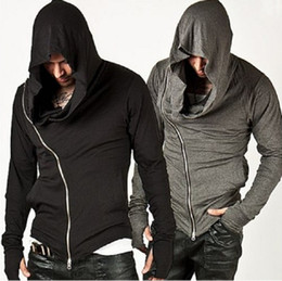 Assassins Creed New Hoodie Pas Cher-Nouveau Style Unbeatable Arm Warmer Diagonale ZIP-UP Hommes Assassin Creed Hoodie Mode Design Pour Hommes Sportswear Sweatshirt hight qualité fre