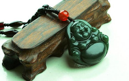 Ingrosso Hetian Buddha pubblico naturale e Tian Yuqing Buddha giada ciondolo collana di giada Collana pendente testa di Buddha