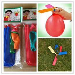 $enCountryForm.capitalKeyWord NZ - 200pcs lot flying Balloon Helicopter DIY balloon airplane Toy children Toy self-combined Balloon Helicopter free shipping
