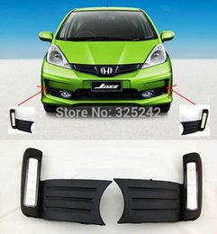 For Honda Jazz Fit 2011 Excellent Quality Ultra Bright Illumination LED Daytime Running Light Led DRL