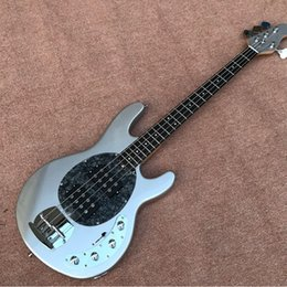 alder guitar wood Canada - Hot selling Silver Sparcle color Cusotm 4 string bass guitar,Alder wood body,accept customize electric bass guitar,free shipping