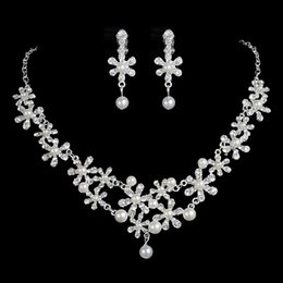 pearl sets Australia - New Arrival Pearl Accessories Bridal Jewelry Sets Necklace Crown Earring For Wedding Pageant Party Bridal Jewelry With High Quality