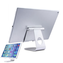 Discount adjustable multi angle holder stand - Wholesale- Solid Durable Holder Minimalist Design Multi-Angle Aluminum Stand for Tablet with Portable Adjustable Chargin
