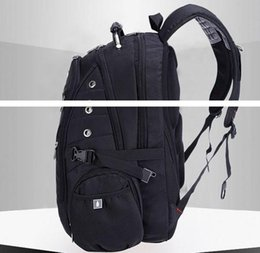 $enCountryForm.capitalKeyWord NZ - Wholesale- Top quality Swiss Multifunctional laptop bag Backpack for 15.6 inch laptop Schoolbag Travel Bags
