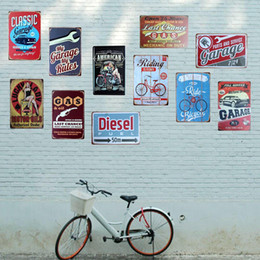 retro home bars 2019 - Wholesale- [ Mike86 ] Classic Vintage Metal Car Poster Retro art Painting Tin signs Retro Bar Home Decoration 20X30 CM A