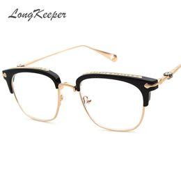 1a3ea6ac959 Wholesale- 2017 Brand Designer Gold Metal Eyeglasses Frame For Women Men  Oversized Square Eyeglass Frames Eyewear With Detachable Lens 873