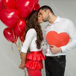 Romantic Supplies 12 Inch 2.2g Red Heart Love Latex New Year Helium  Balloons Wedding Party Valentines Day Inflatable Balls