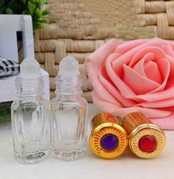 Botellas De Rollo Rellenables Al Por Mayor Baratos-Comercio al por mayor 200 UNIDS 3 ML Roller Ball Perfilable Perfume Llanura Roll-on envase de vidrio Perfume Atomizador Roll On Parfum Bottle PB60