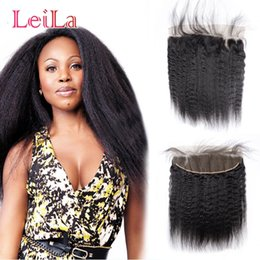 Cheap human hair dhl online shopping - Cheap Indian Lace Frontal With Baby Hair x4 Lace Frontal Kinky Straight Virgin Human Hair Lace Frontal Ear to Ear DHL Free