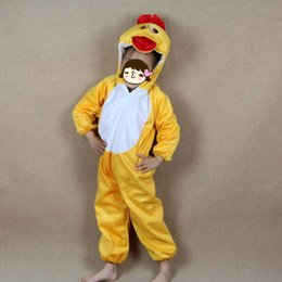 Yellow Duck Clothes Canada - Fashion Uinsex Boy Girls Animal Costume Kids Yellow Duck Cartoon Cosplay Clothing Jumpsuits Hallowmas Costume Carnival Party