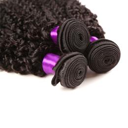 En Kaliteli Doğal Siyah Afro Kinky Kıvırcık Brezilyalı Remy İnsan Saç Atkı 100% saf işlenmemiş 7A saç boyalı Ucuz Kinky Kıvırcık Saç indirimde