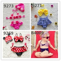 Motifs De Tutu De Filles Pas Cher-Hot Sale 40 modèles de filles Beach Wearing Enfant Bikini Sweet Girls Maillots de bain Sexe Dentelle Tutu Veil Beach Set de vêtements Enfants Maillot de bain Colorful