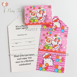 Kitty party themes suppliers best kitty party themes wholesale party supplies 20pcs hello kitty theme party birthday party decoration paper invitation card pink kitty cartoon pattern stopboris Choice Image