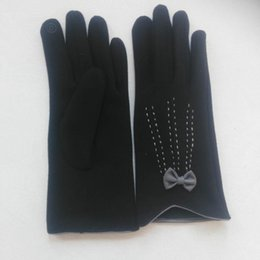 0ab95b2803ddf Lady autumn and winter cotton elegant gloves classic women s butterfly  accessories gloves touch screen gloves