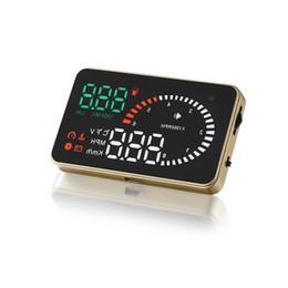 "Monitor Interface Canada - HUD X6 3.5"" Car HUD Head Up Display with OBD II EOBD Interface Plug & Play KM h MPH Speeding Warning"