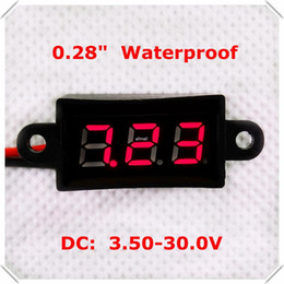 "digital displays only NZ - Freeshipping RD 0.28""Digital Voltmeter DC3.50-30.0V 2 wires Vehicles Motor car Waterproof Voltage Panel Meter LED Display Color10 pcs lot"