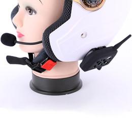 Motorcycle Helmet Walkie Headset NZ - 2017 NEW HOT Vnetphone V6 Helmet Intercom walkie talkie 6 Riders 1200M Communication Interphone Motorcycle Bluetooth Helmet Headset