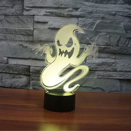 illusions paintings Australia - Abstract Ghost Acrylic 3D Optical Illusion LED Night Light Desk Lamp,Suitable for Bedroom Decoration LED Color Touch Specter Desk Light