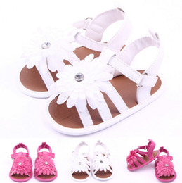 Big Flower Baby Shoes Australia - New Summer Baby Shoes Newborn Big Flower First Walkers Lovely Antislip Infants Girls Shoes
