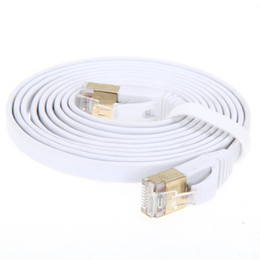Chinese  Wholesale- High Speed 2M 3M 5M Aurum Cables Flat CAT7 Flat UTP Ethernet Internet Network Cable RJ45 Patch LAN Cable Connector manufacturers