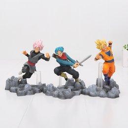 13-15 cm Dragon Ball Super Saiyan Son Goku Black Trunks Action PVC Figure Giocattoli anima X anima Dragon Ball Z figura