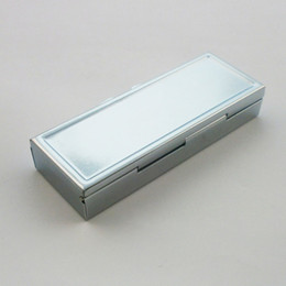 Metal Medicine containers online shopping - Metal Rectangle Silver Tablet Pill Boxes Holder Advantageous Container Medicine Case Small Case Cell Box ZA2137