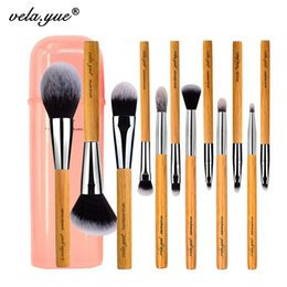 $enCountryForm.capitalKeyWord NZ - Vela .Yue Makeup Brush Set 12 Pieces Cruelty Free Full Function Face Cheek Eyes Lips Beauty Tools Kit with Case 12pcs