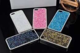 S6 Hard Crystal Edge NZ - glitter Diamond PC hard Case For Iphone 6 7 plus samsung S5 S6 S7 edge NOTE4 NOTE5 Crystal Glitter Bling chrome Case