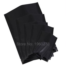 Recyclable fabRics online shopping - 8x12cm x4 quot w Tear Notches recyclable black mylar bag aluminum foil flat open top pouch sachets food powder