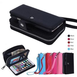 $enCountryForm.capitalKeyWord Canada - Genuine Leather Wallet Zipper Phone Cases Stand Wallet Folded with Card Slot cover For Lady Women iPhone 7 5S 6S Plus Galaxy S7