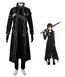Ingrosso Maledizione Anime Sword Art Online Kazuto Kirigaya Kirito Costume da combattimento Anime Costume Cosplay