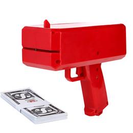 Cool Cash Money Gun Fashion Toy Make It Rain Money Gun Juguetes de regalo de Navidad rojo con caja al por menor