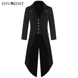 Smokings Para Hombre Baratos-Al por mayor-Envmenst 2017 Top Fashion X-long Tuxedo Classical Men's Wedding Dress Trench Coat Trajes de negocios Chaquetas Rompevientos Hombres