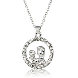 Mom Jewelry Necklace Canada - High Quality Silver Mother Hold Baby Pendant Necklace With Austrian Crystal Gift For Mom Mother'S Day Gift Jewelry