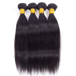 Cheap Natural Hair Wefts UK - Peruvian Straight Virgin Hair Bundle Deals Cheap Hair Extensions Best Sale Items Double Wefts Wholesale Price just for Black women Free ship