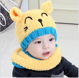 China 2017 New Autumn Winter Baby Boys Girls Cartoon Wool Embroidery Hats Kids Knitted Warm Earmuffs Hat Children Caps Retail cheap kid earmuffs suppliers