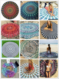 leisure styles printed round beach towels mandala beach towels yoga mat printed tapestry hippy boho tablecloth circle beach towel chiffon cheap circle beach - Cheap Beach Towels