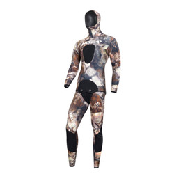 diving suit 3mm UK - 2017 high quality clothes camouflage 3mm wetsuit CR neoprene diving suits surfing suits, warm, snorkeling Suit