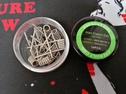 premade fused clapton wire Australia - Alien clapton pre-built coil Fuse clapton premade coils wrap prebuilt SS316L heating stainless steel material SS 316L wires for vape