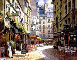 $enCountryForm.capitalKeyWord Canada - Pure Handpainted Cuadros Art oil painting Paris Street,Home Wall Decor HD Printed on High Quality Canvas size can be customized