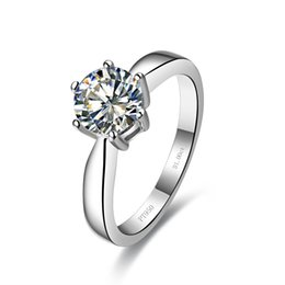 Distinctive jewelry online shopping - Distinctive Classic CT Prongs Jewelry Silver SONA Diamond Wedding for Women Anniversary Bride Surprise Propose Gift