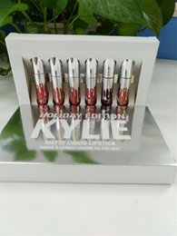 Chinese  New release Kylie Cosmetics HOLIDAY EDITION 6 Piece Chrismas Edition in Box Matte Lipstick Collection Set DHL Free Shipping manufacturers