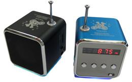 $enCountryForm.capitalKeyWord Canada - Wholesale-Portable FM Radio Receiver Micro USB Stereo mini Speaker FM Radio Ubwoofer Super Bass Portable Speakers for iPad iPhone Samsung