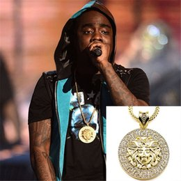 head portraits NZ - Pop star style High-quality alloy head portrait pendant golden blling bling Rhinestone hiphop necklace jewelry for men