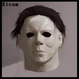 Discount scary movie face mask - 2017 Hot Movie Cosplay Horror Michael Myers Mask Horror Movie Halloween Cosplay Adult Latex Party Face Mask Scary Film M