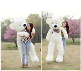 "Chinese  2016 TOYS 6 FEET BIG TEDDY BEAR STUFFED 5 Colors GIANT JUMBO 72"" size:180cm Embrace Bear Doll lovers christmas  birthday manufacturers"