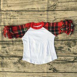 $enCountryForm.capitalKeyWord Canada - Girls Party New Design Blouse Top Shirt Boutique Long Sleeve Knit Icing Ruffle Children Raglan Shirt