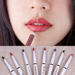 wholesale pink lip NZ - 1 PC Best Automatic Rotary Long-Lasting Natural Makeup Waterproof Lip Liner Pencil