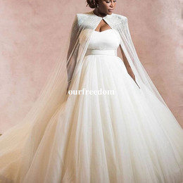$enCountryForm.capitalKeyWord NZ - 2019 Newest Sweetheart Neck Wedding Dresses A Line Beaded Crystal With Wrap Bridal Gown South Africa Style Custom Made Wedding Gown